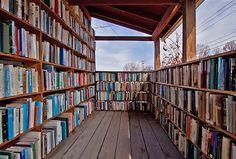 Porch library #books #bookshelves