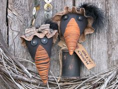 Two Olde Crows sold as a set by Thymeforprimitives on Etsy