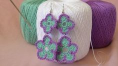 DIY Flower Inspired Handmade Jewelry Tutorials -  Spring Flower Earrings from Crochet Spot