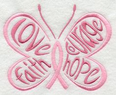 butterfli, embroidery patterns, breast cancer, pink ribbons, cancer awareness, machin embroideri, cancer ribbons, awareness ribbons, machine embroidery designs