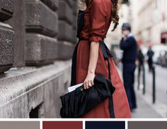 Color Inspiration: Red Dress in the City