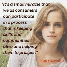 #Fairtrade activist & new UN Women Goodwill Ambassador Emma Watson
