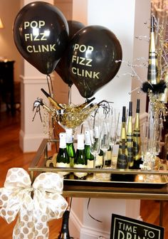NEW YEAR'S EVE Bar Cart Party!!