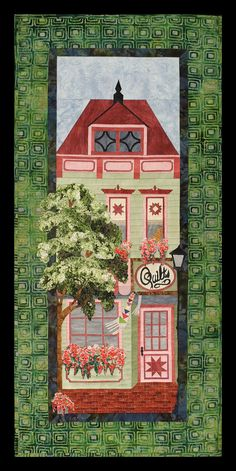 """The Quilt Shop"", 10 x 28"", Painted Ladies quilt pattern by Sue Pritt at Sweet Seasons quilts"