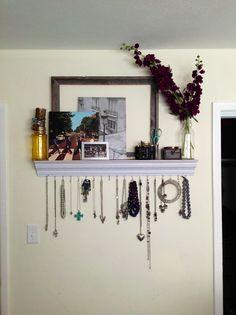 DIY Jewelry Shelf - Crown molding