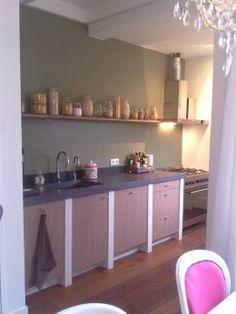 Decoratie on pinterest pallet tray wands and wood wine racks - Deco keuken kleur ...