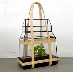 Greenhous-To-Go: #Fashion-forward Portable #terrarium #greenhouse with Prada-like #style