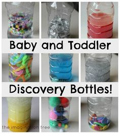 How to make engaging sensory play discovery bottles from everyday materials for babies and toddlers!