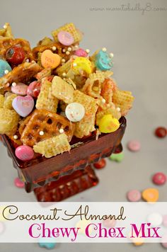 Coconut Almond Chewy Chex Mix Recipe