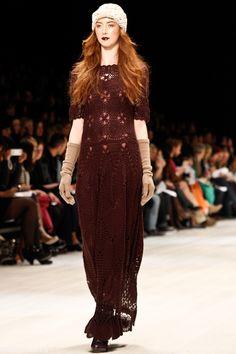 Crochet dress, Line Knitwear, Toronto Fashion Week. Via Crochet Concupiscence.