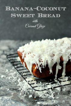 Banana Coconut Sweet Bread via @kdbabbles/ // #banana #coconut #bread #recipe