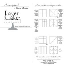 Moda Bakeshop Layer Cake cutting instructions