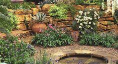 Mediterranean garden/courtyard
