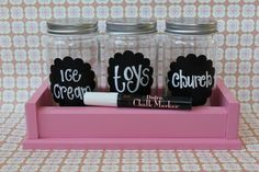lil money jars. how to teach your kids about giving, saving and living!