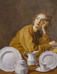 John Currin, Federal Rachel, 2006.    I have no idea why I like this painting.