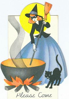 Vintage Halloween Invitation