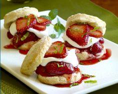 Strawberry Shortcake Sliders recipe via California Strawberries