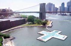 A Huge Floating Pool Off Brooklyn Bridge Park
