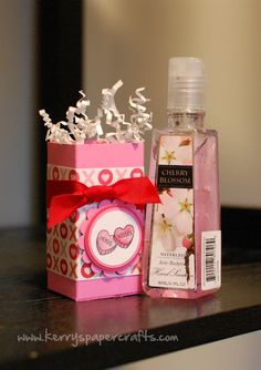 Don't just give the Teacher a bottle of hand sanitizer for Valentine's Day.....Make this cute box to put it into.  Remember, it's all in the presentation. Easy to follow tutorial-make one for all the kid's teachers.
