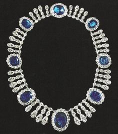 Empress Josephine's Sapphire & Diamond necklace To have survived all these years... mind-blowing