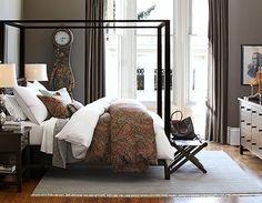 A farmhouse style bedroom.