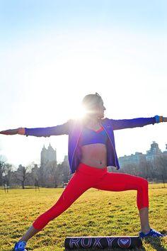 Yoga time with @ROXY #ROXYOutdoorfitness