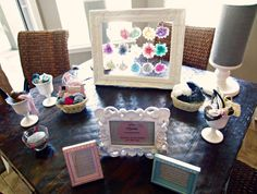 Shower Headband Station at Baby Shower!  Such a fun idea!