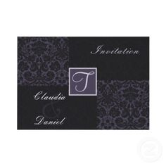 #damask #purple #monogram #wedding #Invitations. All images here are copyright Maria.G,All rights reserved, you can only REPIN them.