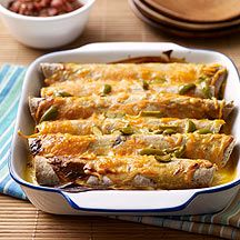 Weight watchers recipe for enchiladas.  Add some wholly guacamole and life is good AND healthy.