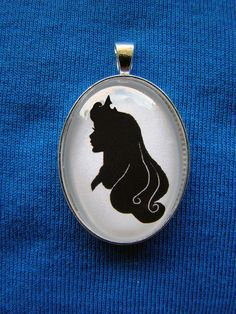 Princess Aurora from Sleeping Beauty Silhouette Cameo Pendant Necklace