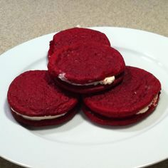 Red velvet cookies with cream cheese frosting Yummmm!