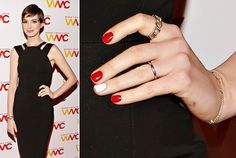 How to DIY Anne Hathaway's Accent Manicure