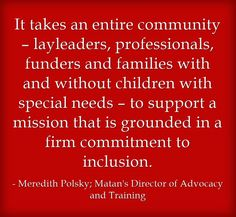 The Bigger Picture - it really does take a community to make inclusion a reality