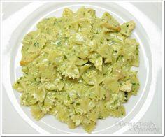 {Creamy Pesto Chicken Pasta}    1/2 lb. Pasta (your favorite shape)  salt  1 tbsp. butter  leftover or rotisserie chicken cut or shredded  1 can cream of chicken soup  1/2 c. of pesto sauce  1/2 c. milk