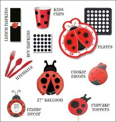 Modern Ladybug (or Lovebug) Party Theme