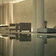 Spa at Bulgari Hotel Milano by Italian Architect Antonio Citterio