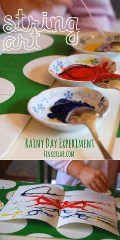 idea, art paintings, activities for kids, water balloons, kid art, string art, open ended art, preschool, kid craft