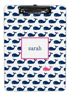 Navy Whale Repeat Clipboards