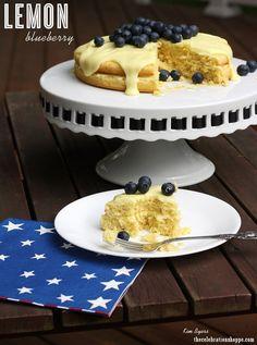 Lemon Blueberry Cake - Simple and Amazing! | Kim Byers, TheCelebrationShoppe.com