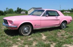 Passionate Pink 1968 Sprint 200 A Mustang Hardtop