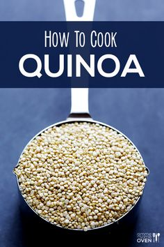How To Cook Quinoa (Pronounced keen-wah)  ...so that's how you say it!  :)