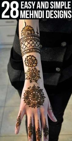 Here we share 28 such simple mehndi designs that you can try too