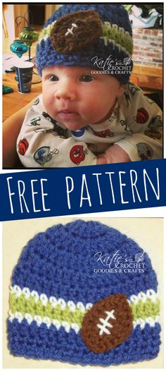 Customize this FREE crochet pattern with your favorite team colors!