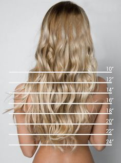 "hair length chart .. I'm trying to grow mine out to 18"" or 20""  and right now it's at 14"" :/"