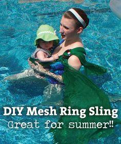 DIY Mesh Water Ring Sling - Mama Say What?!