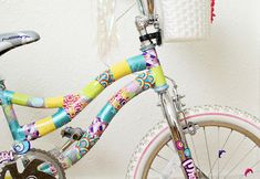 DIY Bike Makeover with Colorful Patterned Scotch Duct Tape