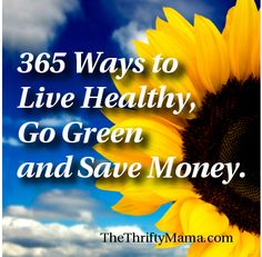 365 Ways to Go Green, Live Healthy and Save Money