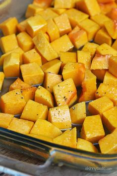 Maple Roasted Butternut Squash | I love squash in the fall and winter. This sounds awesome.