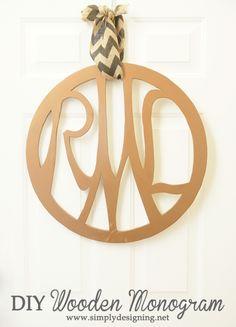 DIY Wooden Monogram | #monogram #diy #diyblogger #homedecor