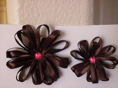 Cute flower hair bows